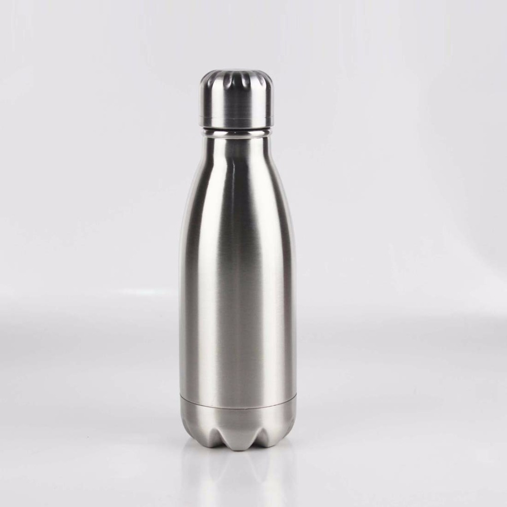 260ml double wall stainless steel vacuum insulation cola shaped water bottle,Inner plating copper cola shape flask