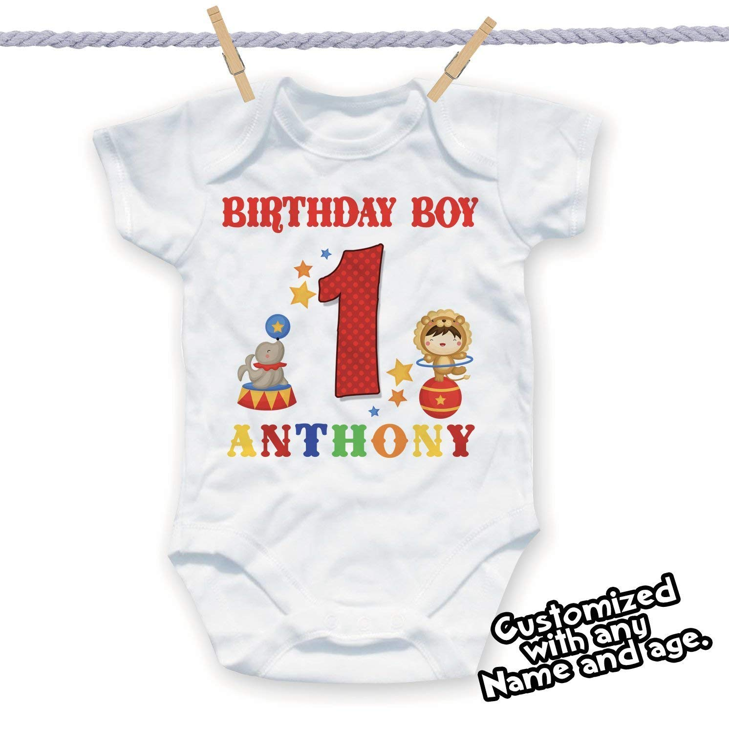 Get Quotations 1st Birthday Circus Personalized Shirt Theme Party