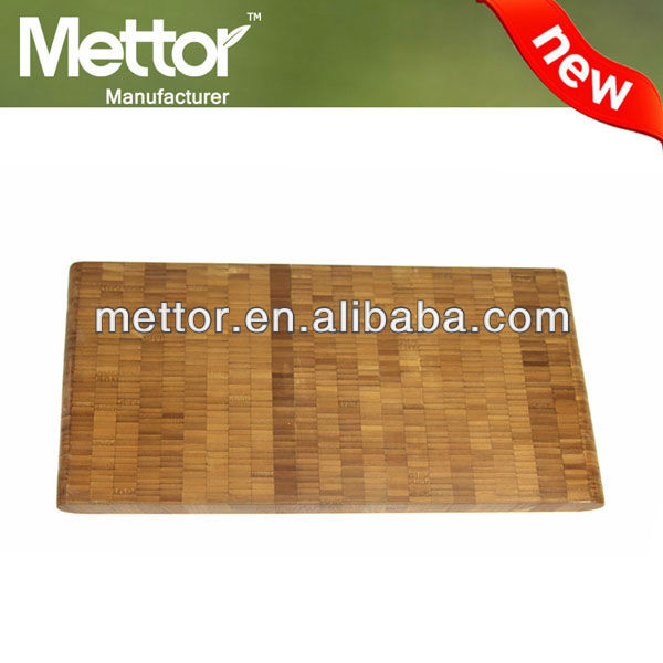 Mettor durable bamboo hardwood butcher block cutting boards