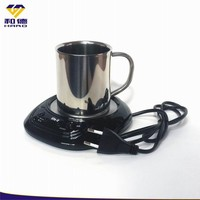 Electric Coffee Cup Warmer & Double Wall Stainless Steel Coffee Cup