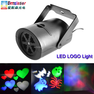 RGBW LED gobos light Projector Accessories Halloween Ghost Gobos light disco party logo light