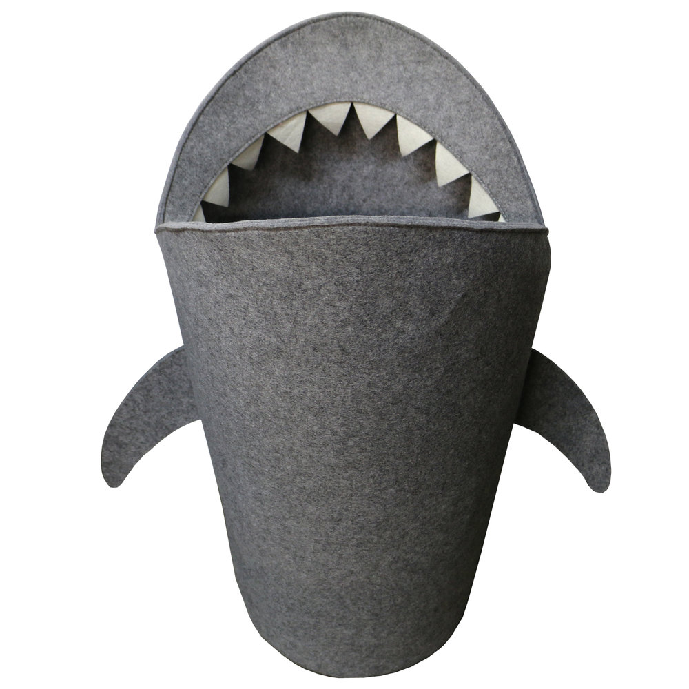 Shark Felt laundry Basket Storage bin, Toy basket