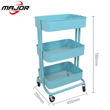 โลหะ Rolling Heavy Duty Mobile Storage Organizer Craft รถเข็น dolly รถเข็น Utility