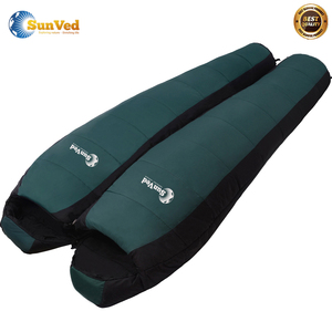 newest inflatable travel mummy goose down sleeping bag