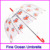 OEM cheap custom promotional transparent clear golf pvc umbrella