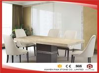 High End Polished Surface Marble Dining Table Set