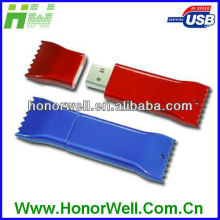 Plastic or Metal sweet candy shape usb flash memory free logo/usb flash drive