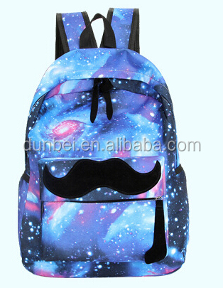 Trends in 2015 latest fashion starry sky school bag beared school bacpack