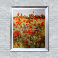 Popular modern decor oil painting with silver frame