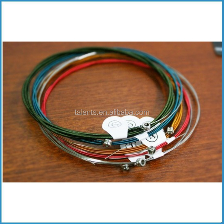 Colorful coating acoustic guitar string, OEM guitar strings, acoustic guitar strings