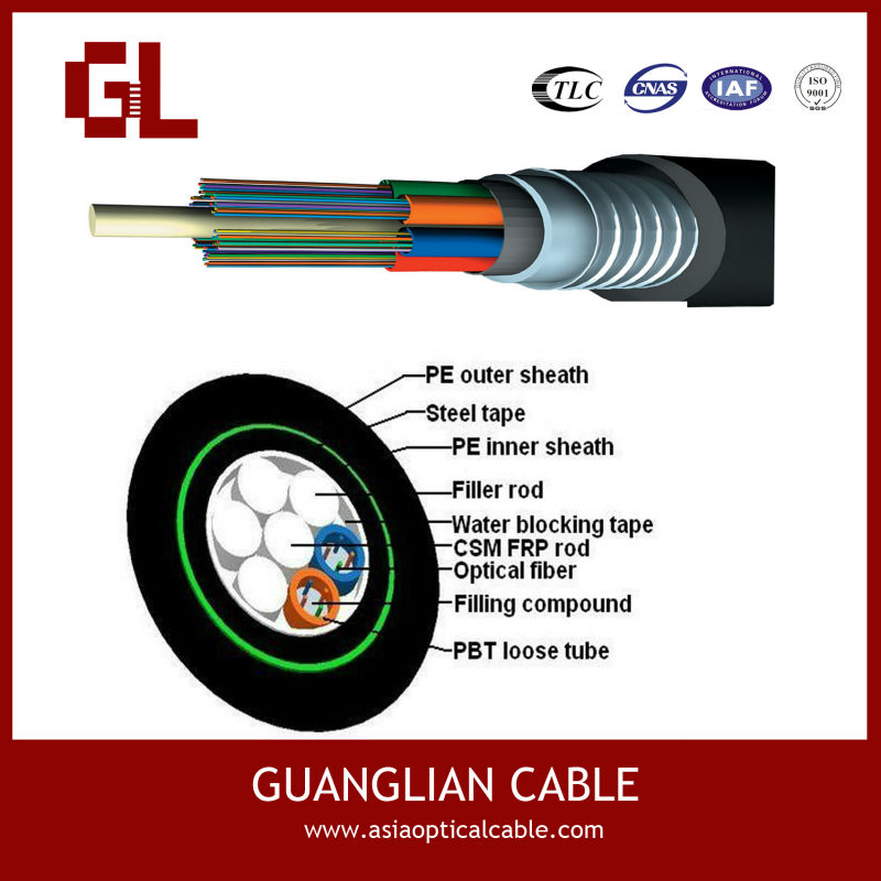single mode fiber cable armored loose tube,double jacket cable optical fiber for lighting