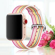 Новая нейлоновая Спортивная петля для apple watch series 3 2 1 ремешок для iWatch 42 мм 38 Красочные легкие дышащие Замена(Китай)