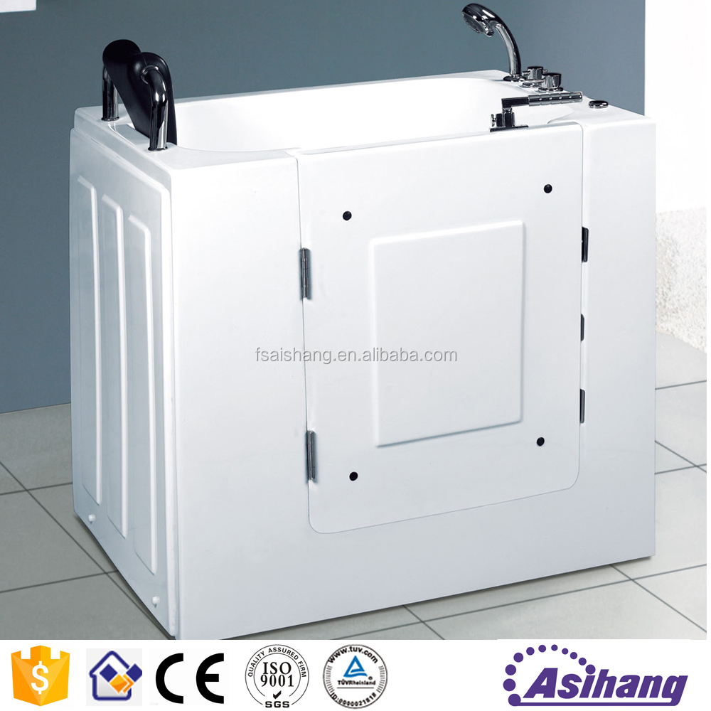 wholesaler walk in bathtub with shower step in tub small