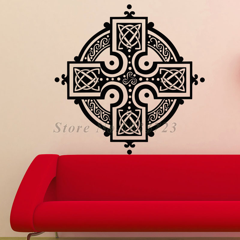 Mandalas Pattern Art Wall Stickers Cross Hippie PVC Waterproof Home Decals Decoration For Living Room