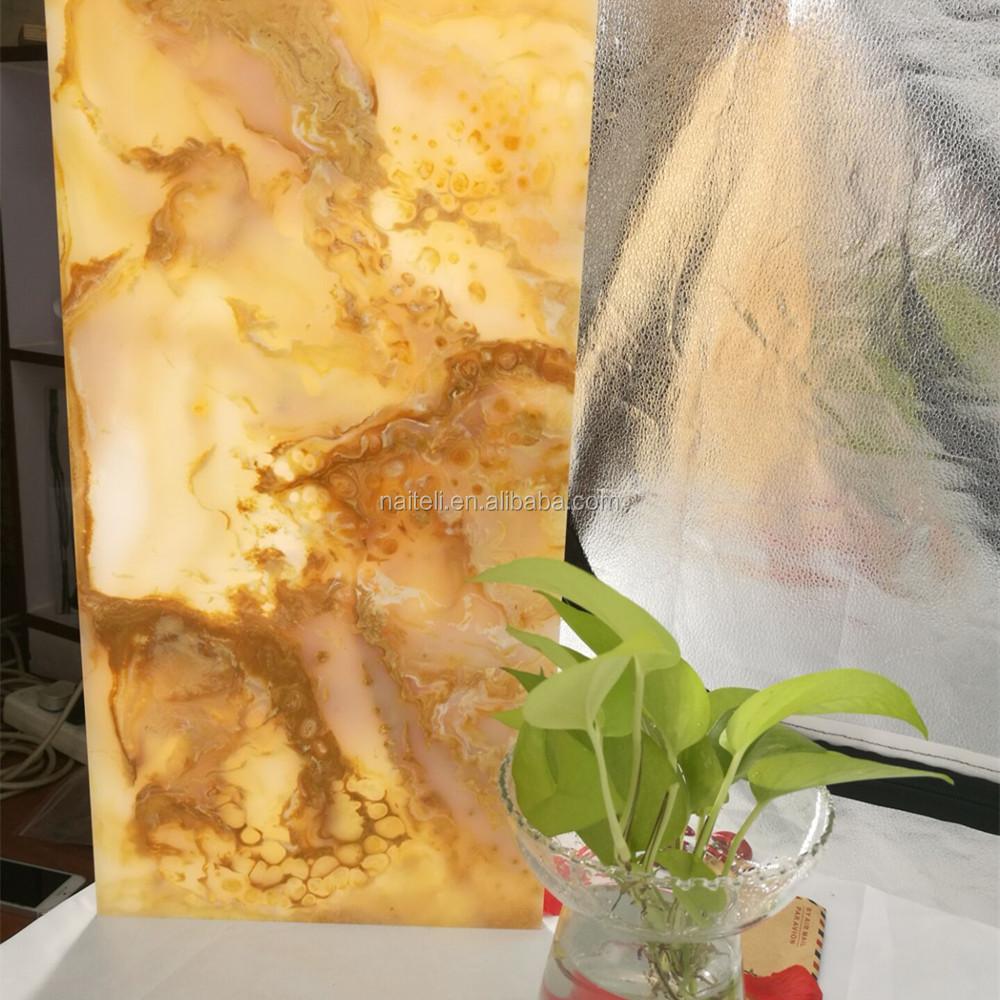 backlit marble artificial alabaster stone translucent resin panel