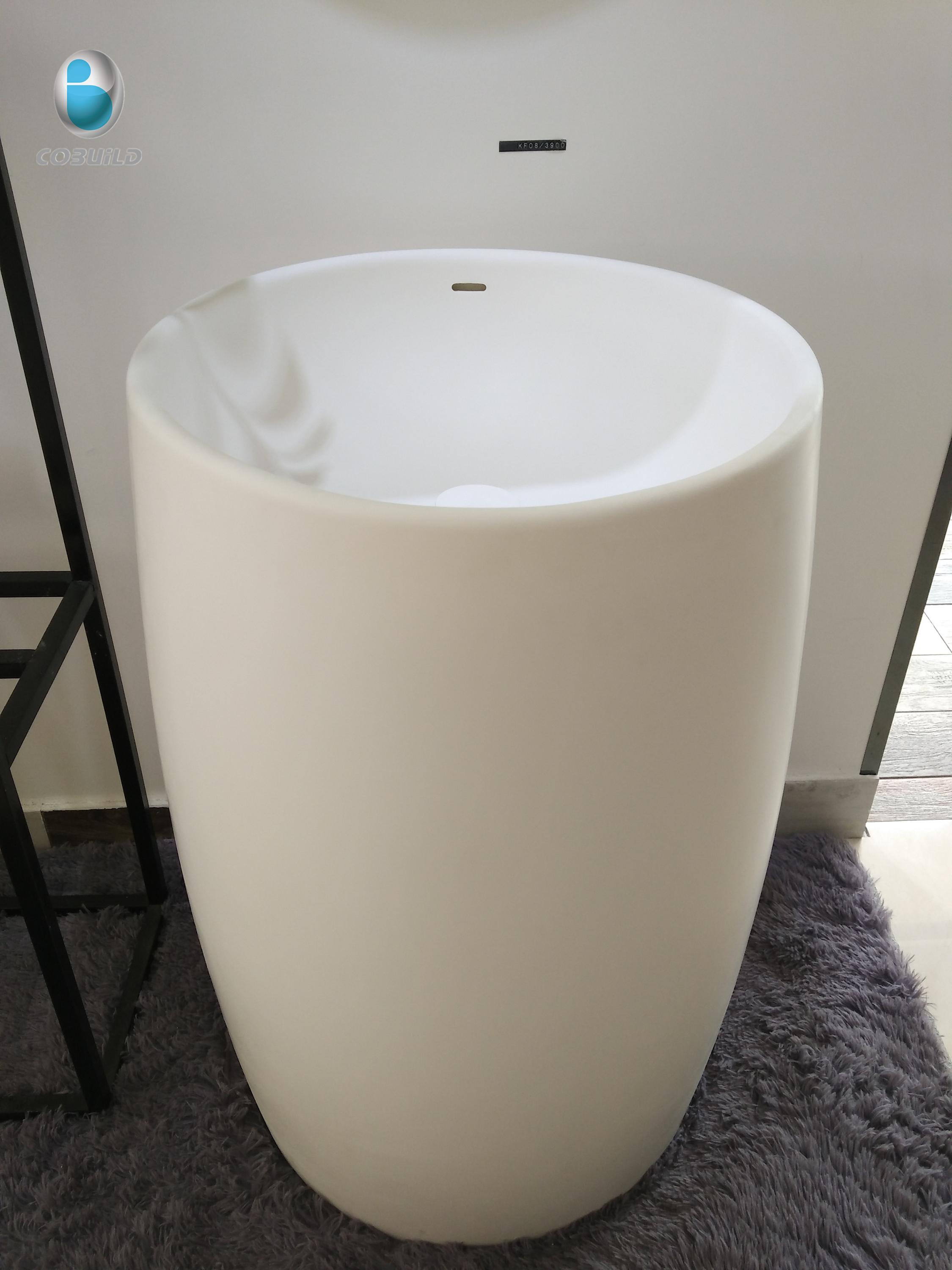 Luxury Pedestal Engineered Stone Sink/one Piece Free ... on Outdoor Sink With Stand id=47941