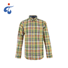 New look soft 100% cotton long sleeve funny bright coloured mens clothing shirts check