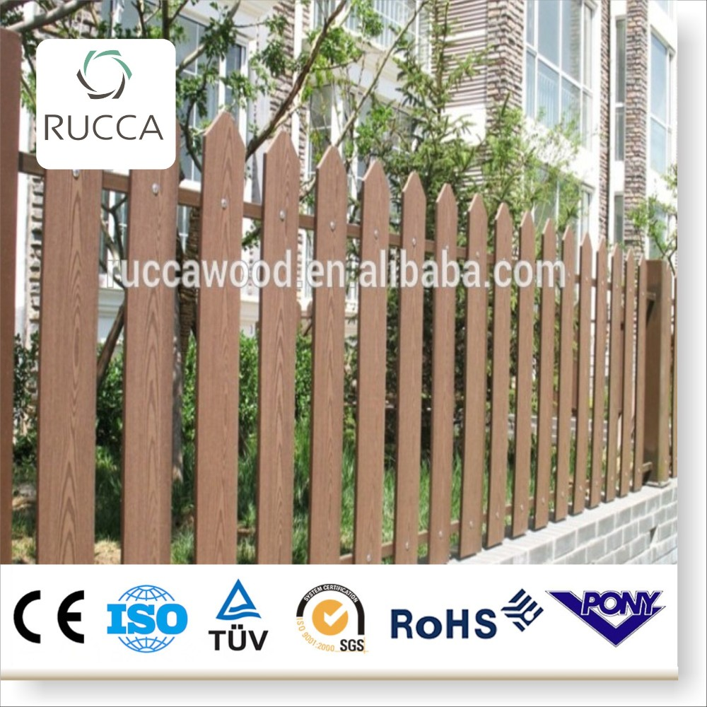 2016 WPC wood main gate and fence wall design from Foshan China factory directly sale