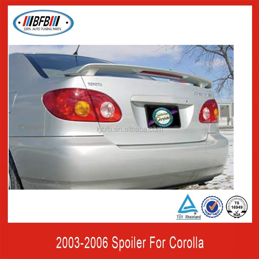 Fit For Toyota Corolla 2003 2004-2008 Factory Style Spoiler w/LED Primed (Fits Toyota (Fits: 2003 Toyota Corolla)