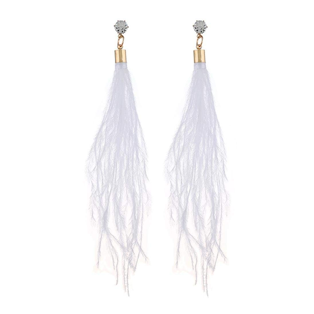 Leedford New Fasaion Earrings, Women's Long Tassels Pendant Ear Studs Earrings Jewelry Ornaments