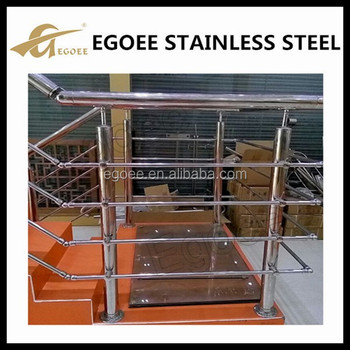 Indoor Metal Stair Railing Design/ladder With Handrail