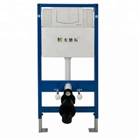 CE standard super slim wall mounted wc toilet cistern fixing frame for wall hung toilet