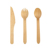 Disposable Eco-Friendly Stocked Wooden Soup Spoon Knives Forks Tableware