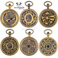 Chain Cheap Japan Movt Quartz Style Antique Pocket Watch