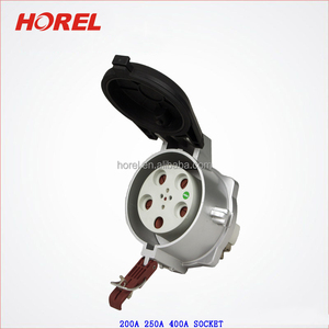 Industrial Plug Sockets 4 Pin 5 Pin 3P+N+E IP67 200A 250A 400A aviation plug