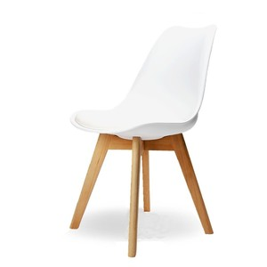 Nordic Style Modern Simple Minimalist Dining White Chair for Kitchen/Catering/Cafe/Restaurant