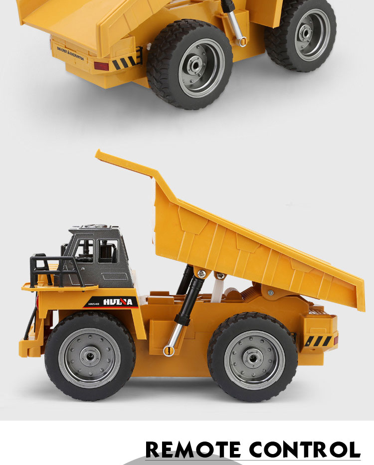 HUINA 1540 540 2.4G 1:18 6CH die-cast cars metal rc dump truck models for play