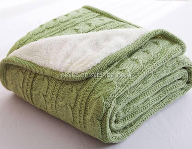 Cotton Material Crochet Knit Baby Blanket