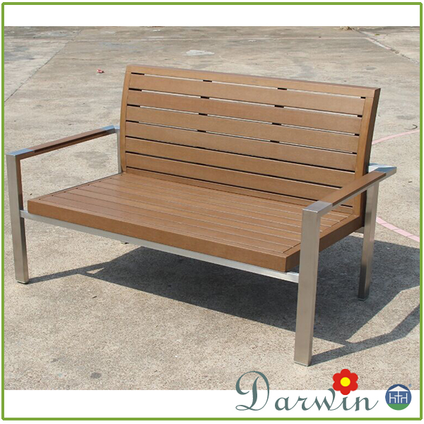 Aluminum frame outdoor bench lounge seat chair