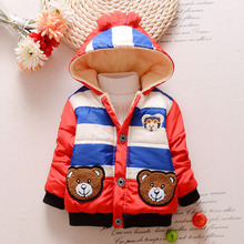 TC11024 wholesale fancy baby boy hooded coats rich cotton warm baby winter coats for boys