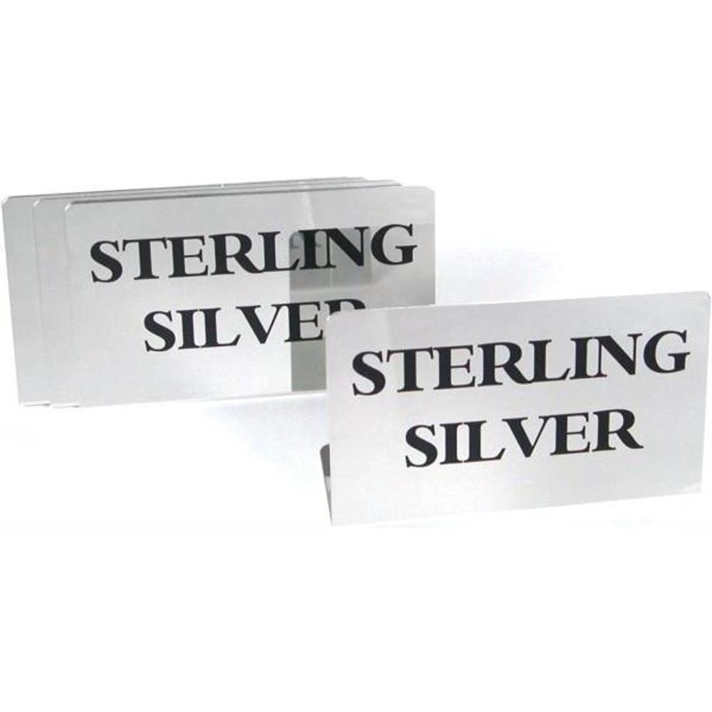 4 Sterling Silver Signs Showcase Countertop Displays