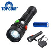 Aluminum Alloy LED Flashlight Magnetic Base Light 3 Color Signal Torch Light Rechargeable