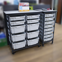 Multifunctional classroom office file collect cart trolle