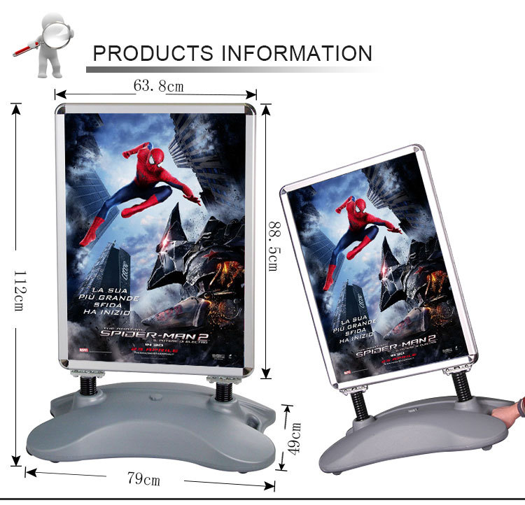 High quality portable plastic advertisement waterbase outdoor sign board, poster board