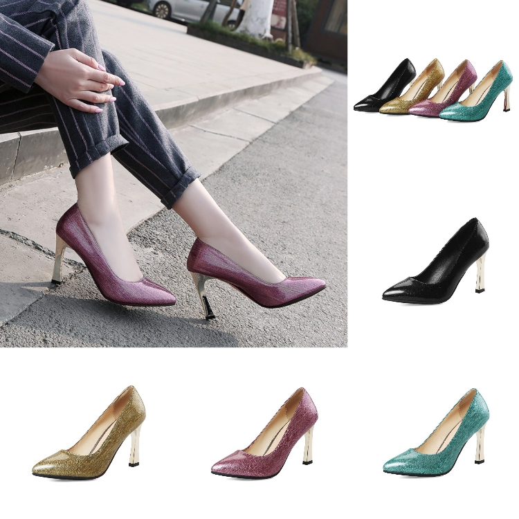 2018 Fashion Pointy Toe Dress Shoes High Heel Women Pump Shoes