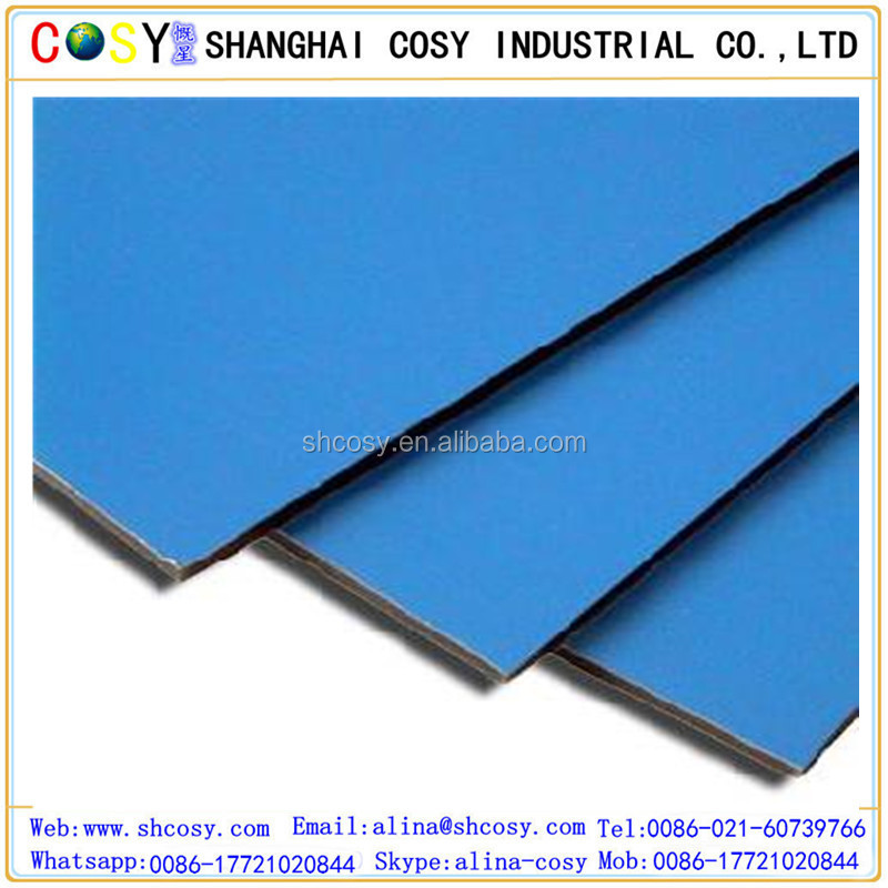 Soundproof plastic aluminum composite sheet wall panel board