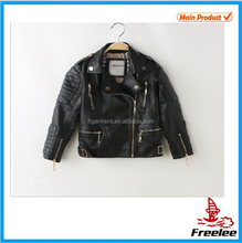 Cheap leather motorcycle jackets bike clothes kids fashion