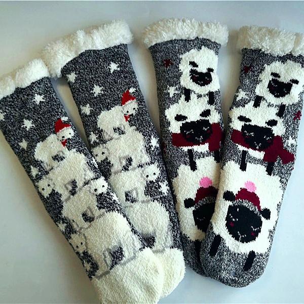Socks No Gift Box Winter Cute Kawaii Socks Meias Cartoon 3d Animals Elk Sheep Panda Funny Socks Women Warm Christmas Socks No Gift Box Be Friendly In Use
