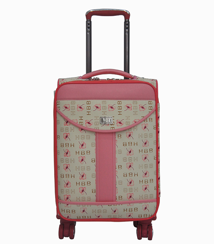 Best Selling 5 Pieces Factory Price Pink Color Four Wheeled Carry ...