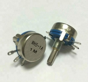 WH5-1A 1W carbon film potentiometer 1M adjustable speed power resistor sliding rheostat high stability and high quality