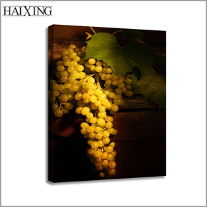 High Quality Factory Low Price Frameless Embossed Grapes Canvas Oil Painting Art for Home Living room Wall Decor