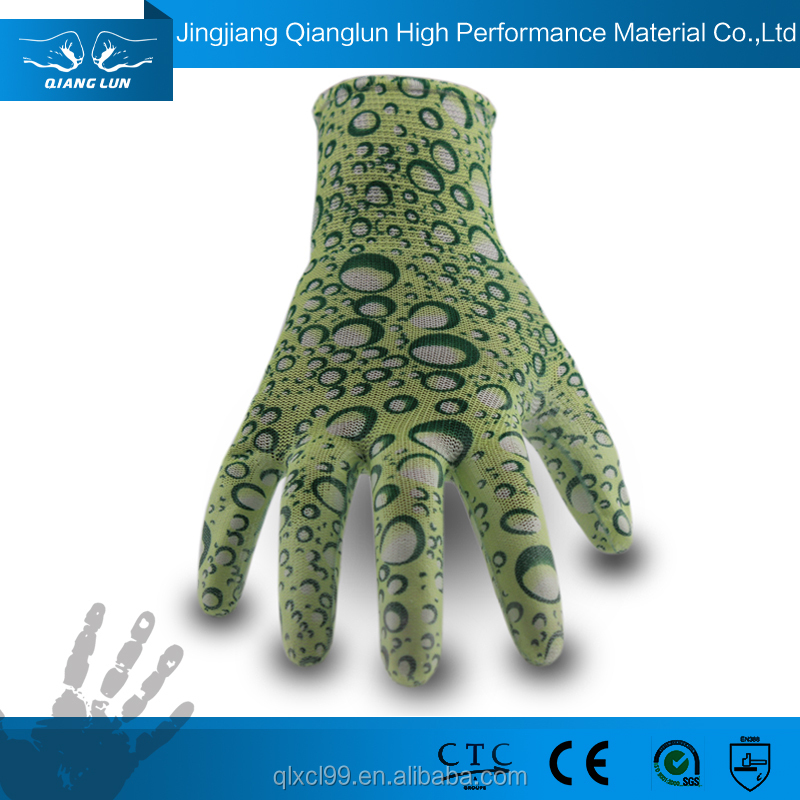 Qianglun printed gardening gloves excellent air permeability gloves