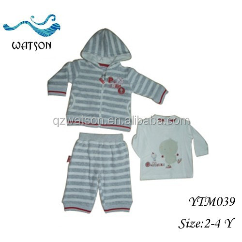 OEM/ODM Stripe Child Long Sleeve Hoodies Boys Pure Cotton Clothing