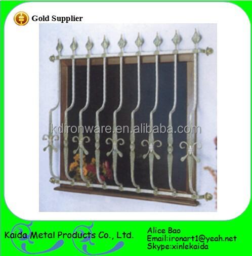 Ornamental French Modern Simple Steel Window Grill Design
