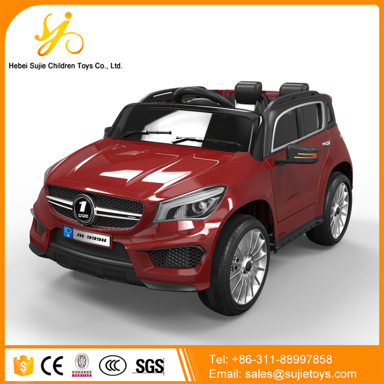 low price electric car child storage battery car with suspension four