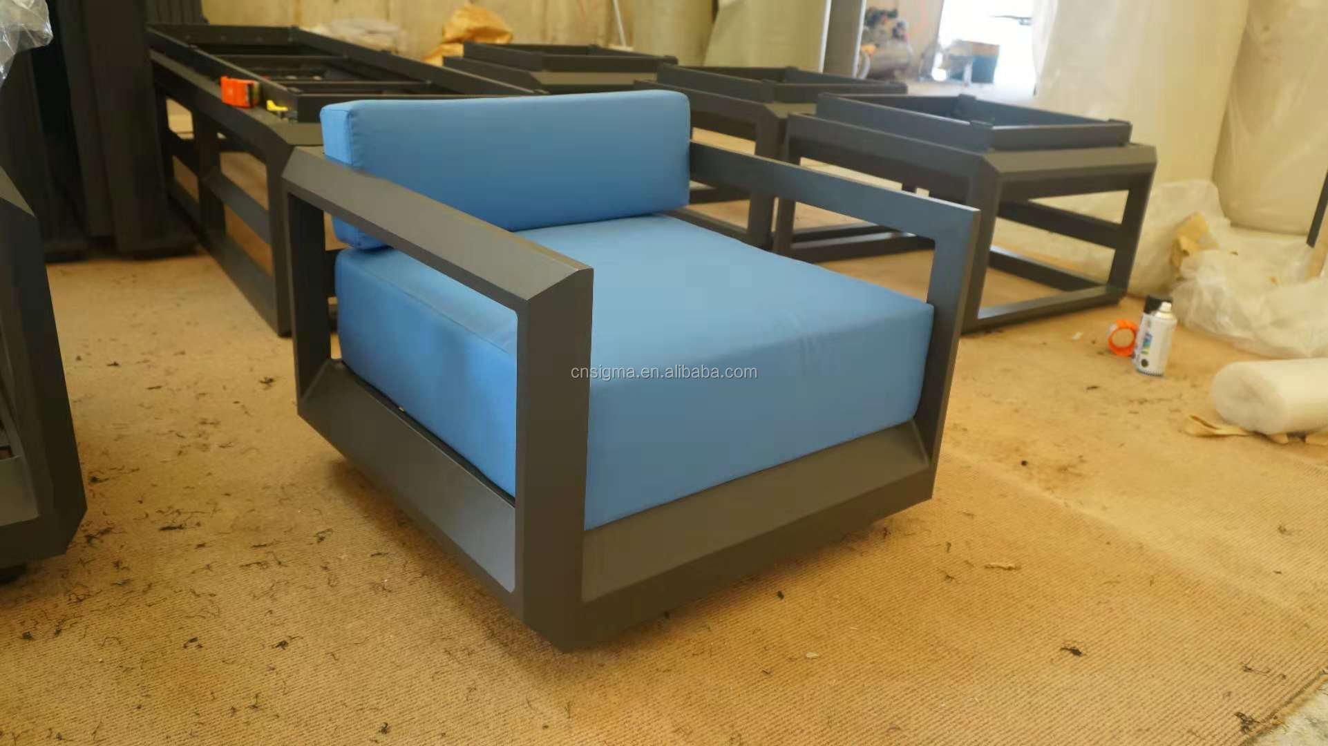 Luxury outdoor furniture maintenance free outdoor furniture aluminium hand crafted sofa